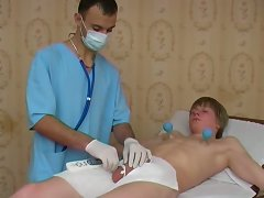 Lustful doc fingers and does various nasty things with his teen age patient