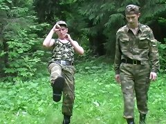 These lustful soldiers come to the forest sometimes and have fun in heat.