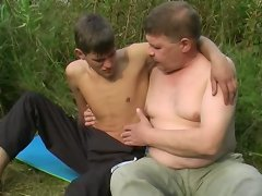 This hot couple of mature gay and twink are hot and they are eager to fuck.